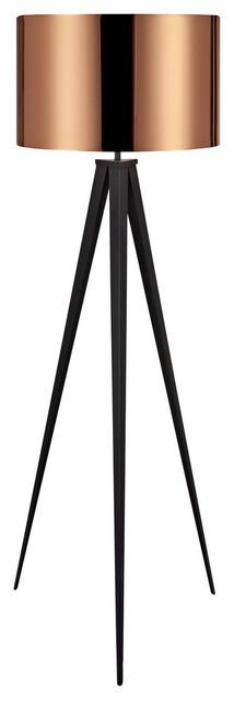Romanza Tripod Floor Lamp, Copper