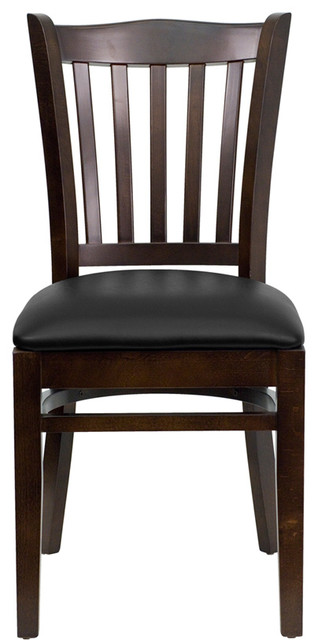 Flash Furniture Hercules Series Finished Vertical Slat Back Restaurant Chair.