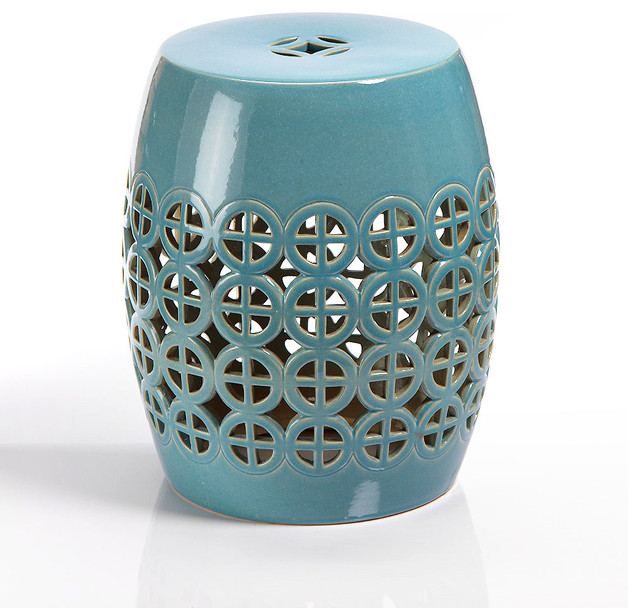 Cut-Out Ceramic Garden Stool transitional-accent-and-garden-stools  sc 1 st  Houzz & Cut-Out Ceramic Garden Stool - Transitional - Accent And Garden ... islam-shia.org