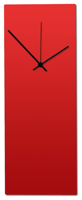 Redout Black Clock Modern Metal Wall Minimalist Red And