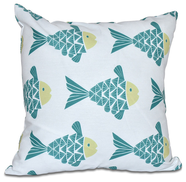 E by Design - Fish Tales, Animal Print Pillow & Reviews Houzz