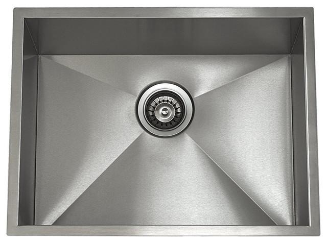 Lenova Ss-0ri-S3 Zero Radius Stainless Steel Single Bowl Undermount Kitchen Sink.
