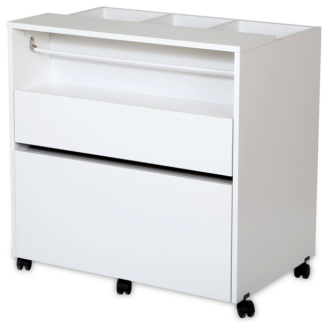 South Shore Crea Craft Storage Cabinet on Wheels - Transitional - Office Carts And Stands - by ...
