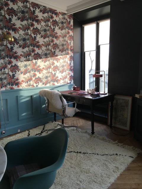 Bureau d'une créatrice de parfum rue de Londres, Paris 8 eclectique