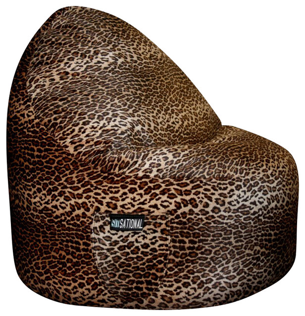 ... Bean Bag Chairs. 2 Seater Sitsational Animal Print Lounger, Leopard