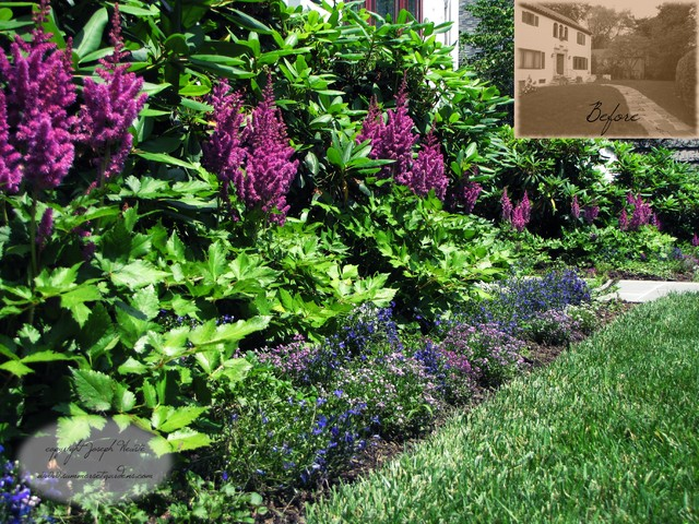 Front Yard Landscape Planting Detail In Ny Traditional