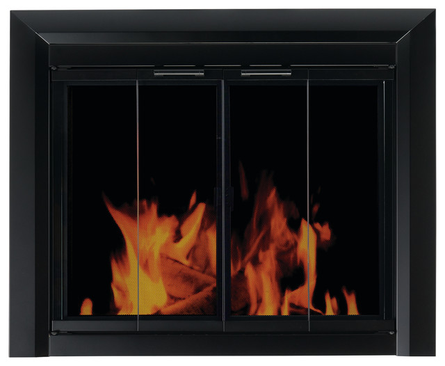 Clairmont Fireplace Screen Bi Fold Smoked Glass Doors Small Traditional Fireplace Screens