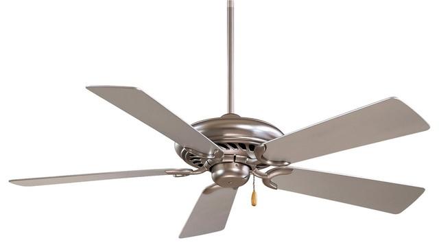 Minka-Aire Supra Ceiling Fan, Brushed Steel.