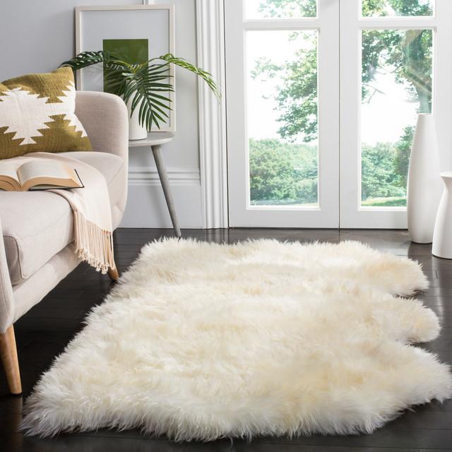Safavieh Salamanca Sheepskin Rug White Contemporary
