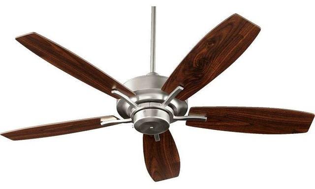 "Quorum International 64525-65 Soho 52"" Ceiling Fan, Satin Nickel."