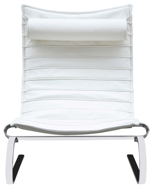 Fine Mod Imports Pika 20 Lounge Chair, White.