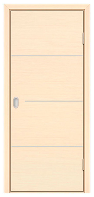 Milano 1m5 White Oak Interior Door 24x80 Slab Only