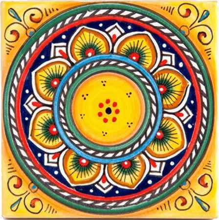 Italian Ceramic Tile Deruta Yellow 4x4