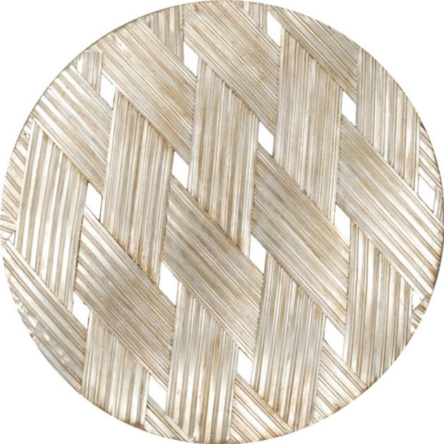 Woven Age Round Wall Decor Contemporary Metal Wall Art