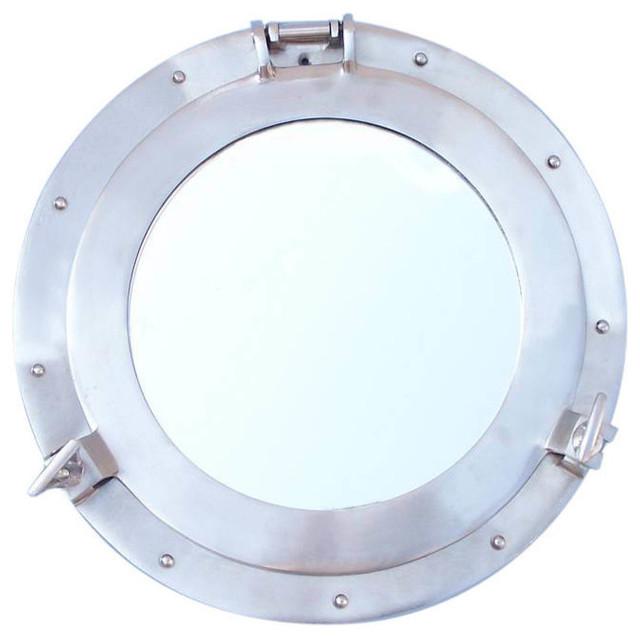 "Shipwrecked Decorative Ship Porthole Mirror, 12"""