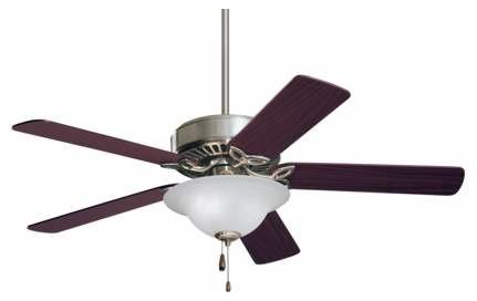 50 Pro Series Es Ceiling Fan, Brushed Steel.