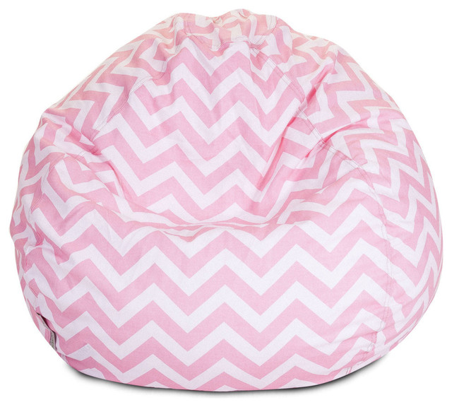Tremendous Indoor Baby Pink Chevron Small Bean Bag Machost Co Dining Chair Design Ideas Machostcouk