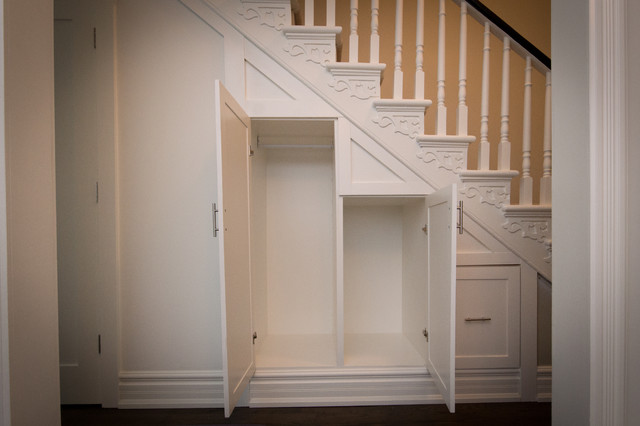 Toronto Cabbagetown Hallway Under Stairs Custom Closet - Contemporary - Toronto - by Seva Rybkine