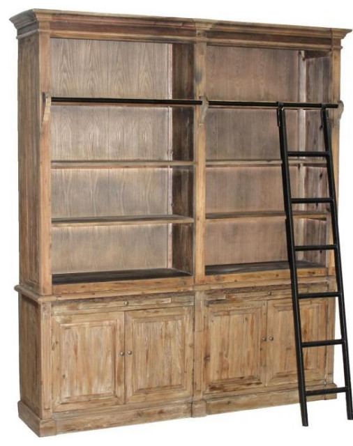 Bookcase Natural Iron Pine New HW-351