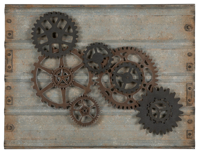 Superbe Gear Wall Hanging Industrial Metal Wall Art