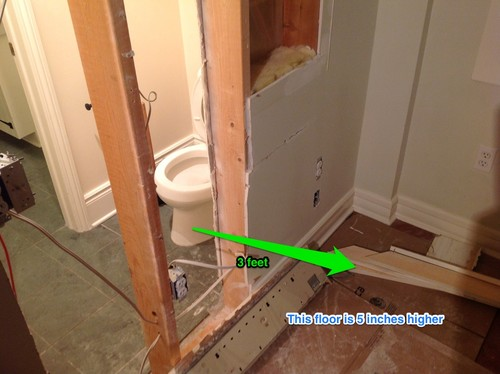 Bathroom Remodel Moving Plumbing : Moving a toilet is this plumbing possible