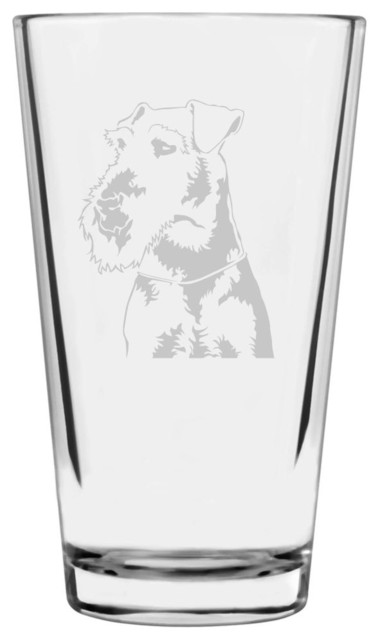Welsh Terrier Dog Themed Etched All Purpose 16oz Libbey  : beer glasses from www.houzz.com size 380 x 640 jpeg 23kB