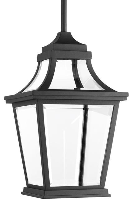 Endorse 1-Light Outdoor Pendants/chandeliers, Black