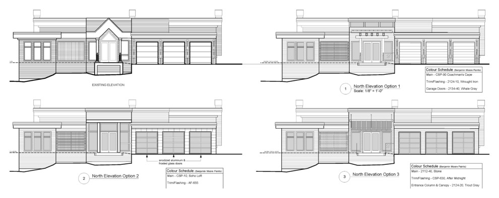 Front Elevation Options