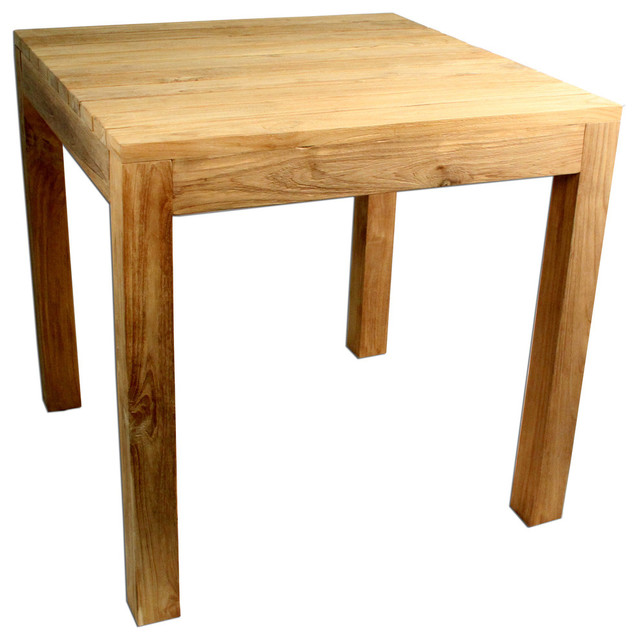 Rustic Teak Outdoor Dining Table 31 5 X31 Transitional Tables By Padma S Plantation