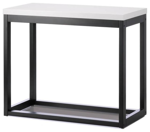 Modern black frame long table modern side tables and for Long side table