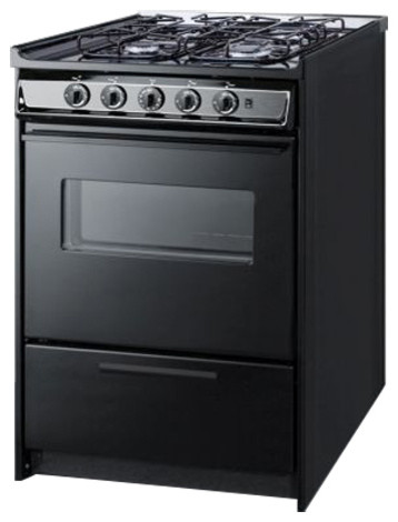 24 Wide Slide In Gas Range White With Sealed Burners Contemporary Ranges And Electric By Chimney