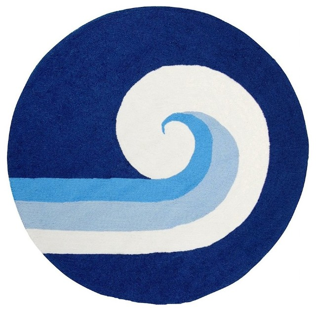 Kids Playground Round 4u0027 Royal Blue Area Rug Contemporary Rugs