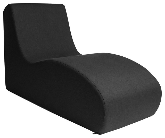 Jaxx Shea Chaise Lounge Chair, Black.