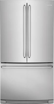 "36"" Counter-Depth French Door Refrigerator, Stainless Steel."