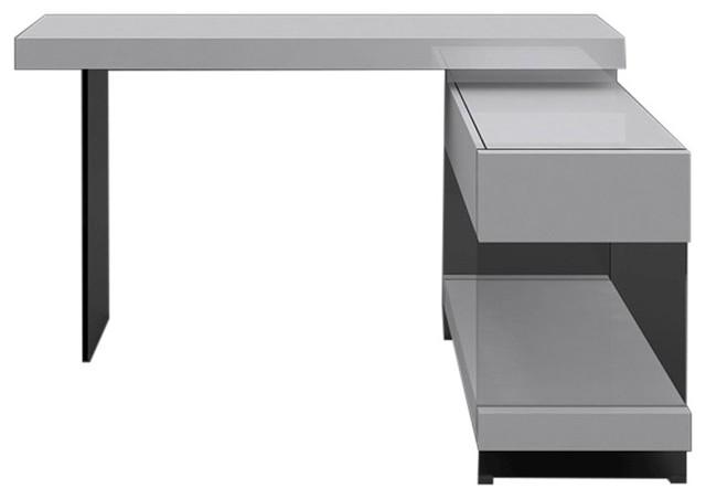 Cloud Modern Desk White High Gloss