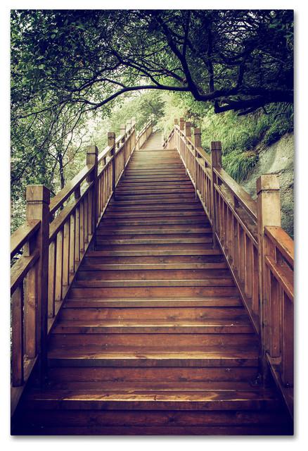 "Philippe Hugonnard 'Staircase' Canvas Art, 19""x12"""