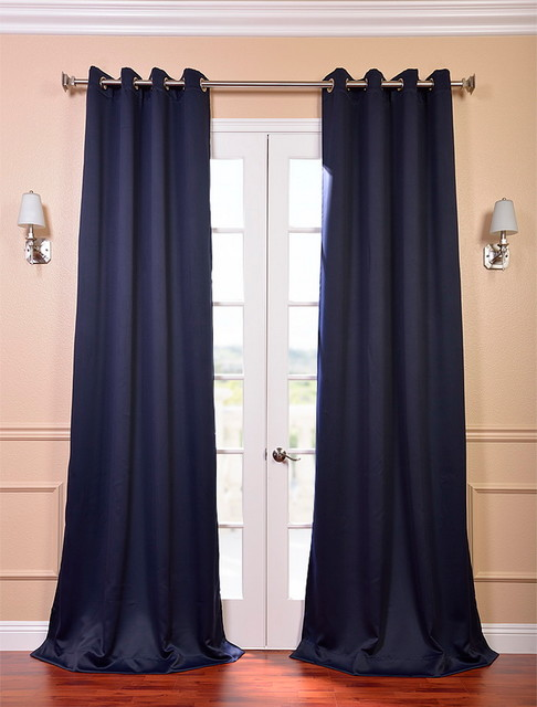 Navy Blue Blackout Grommet Curtains - Best Curtains 2017