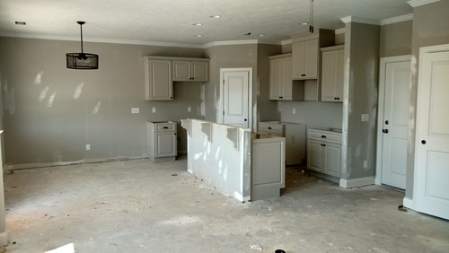 gray cabinets with gray walls?