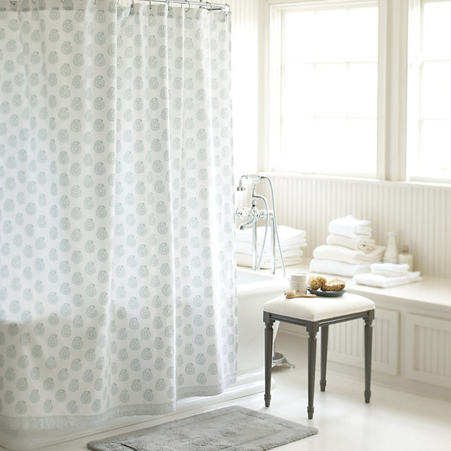 Ava Block Print Shower Curtain