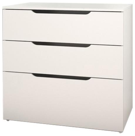 Nexera Arobas 3 Drawer Filing Cabinet Contemporary Filing Cabinets