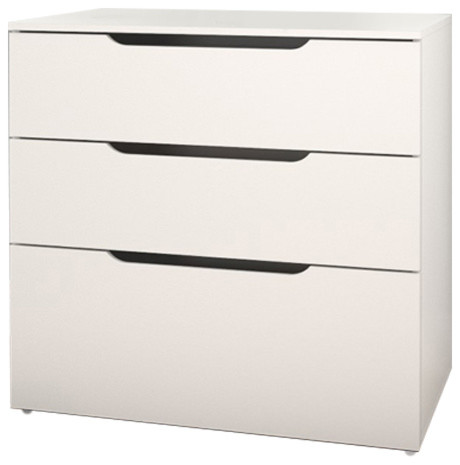 Arobas 600303 3-Drawer Filing Cabinet From Nexera, White.