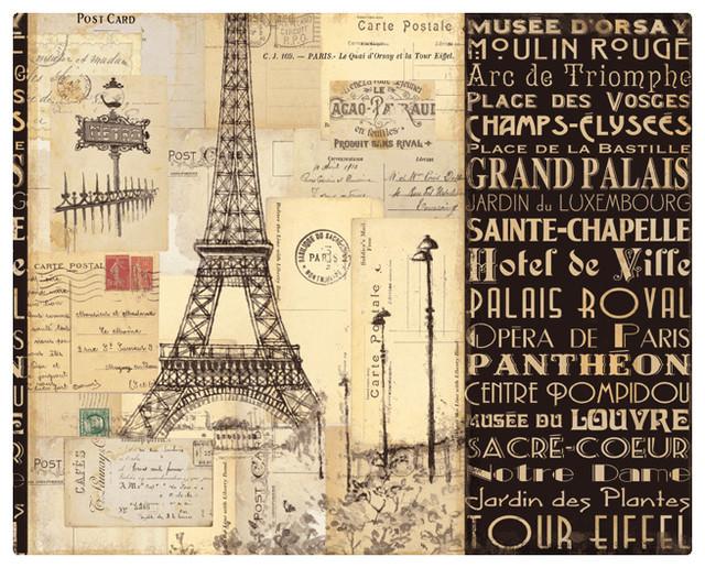 Magic Slice Non-Slip Flexible Cutting Board, Paris Collage by Pela Studio