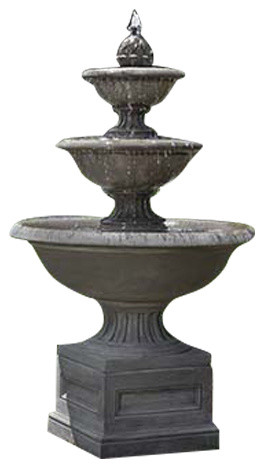 Fonthill Tiered Outdoor Garden Fountain Traditional Outdoor Fountains And Ponds By Tuscan