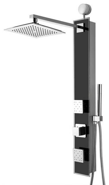 "AKDY 35"" Stainless Steel Shower Panel With Shower Head and Body Spray"