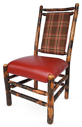 Hickory Dining Chair With Plaid