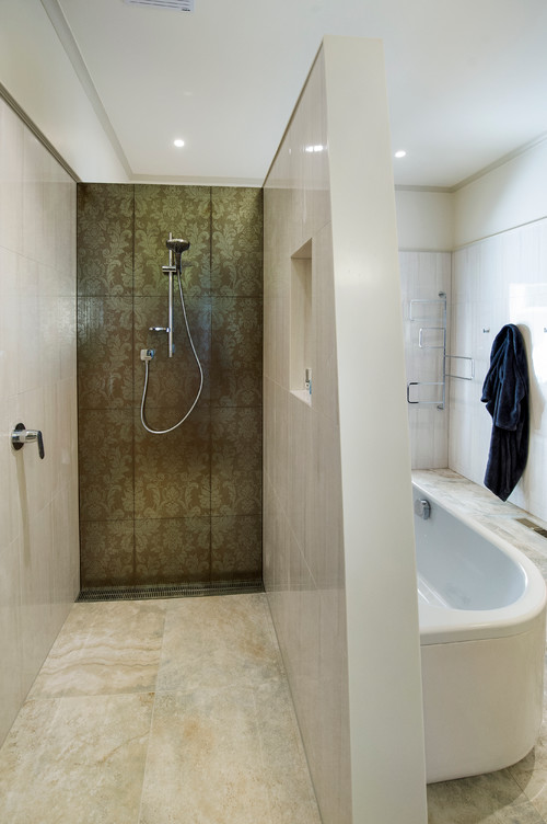 how to separate wet and dry zones in a bathroom. Black Bedroom Furniture Sets. Home Design Ideas