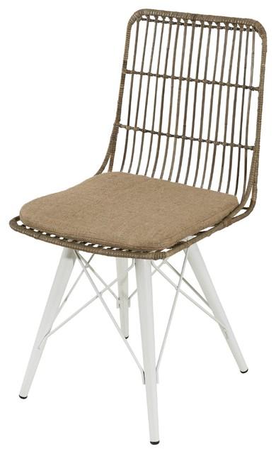 Wondrous Sydney Kubu Rattan Dining Chairs White Set Of 2 Ncnpc Chair Design For Home Ncnpcorg