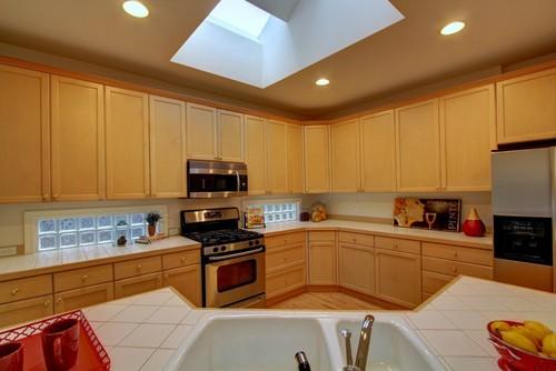 Cherry Or White Cabinets In Updated Kitchen Whats Your Vote - Cherry vs maple kitchen cabinets