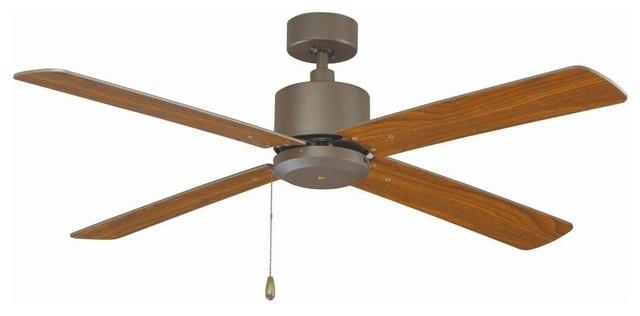 """Miseno Mfan-1701 52"""" Indoor Ceiling Fan, Oil Rubbed Bronze."""