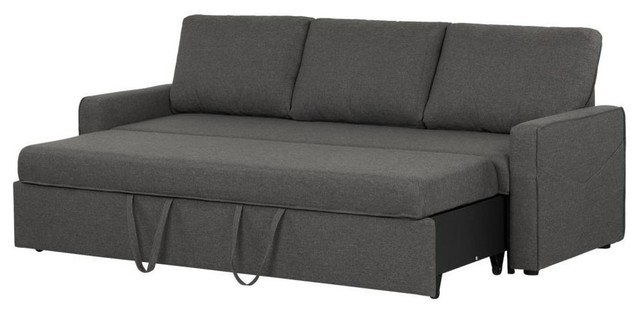 Live-It Cozy Sofa Bed, 3-Seat, Charcoal Gray.